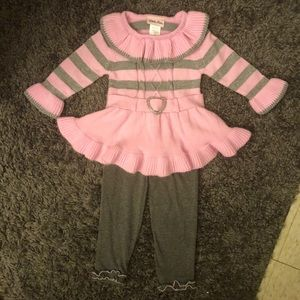 Collared sweater dress outfit - 18 months